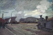 Железнодорожный вокзал в Аржантее, 1872 - Моне, Клод