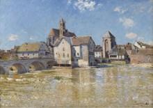 Мост в Море, апрельское утро, 1888 - Сислей, Альфред