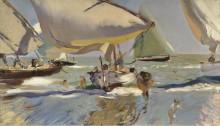 Лодки на берегу, 1909 - Соролья, Хоакин