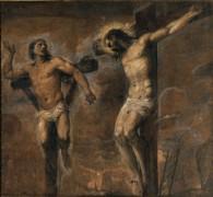 Иисус Христос и благоразумный разбойник - Тициан Вечеллио
