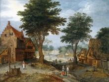 Пейзаж с крестьянами - Брейгель, Ян (младший)