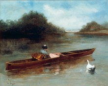 Женщина в лодке - Беро, Жан