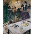 Месье Буалё в кафе - Тулуз-Лотрек, Анри де