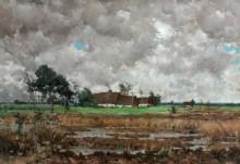 Пейзаж с фермой - Дюпре, Жюль