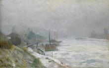 Сена зимой, 1899 - Лебург, Альберт