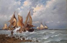 Рыбаки на берегу моря - Кауфман, Адольф