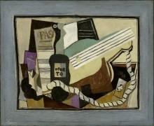 Бутылка Порто, гитара и игральные карты - Пикассо, Пабло