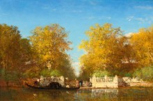 Пейзаж с видом на Французский сад, Венеция -  Зим, Феликс