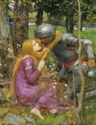 Рыцарь и нимфа - Уотерхаус, Джон Уильям