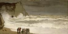 Бурное море в Этрета, 1868-1869 - Моне, Клод