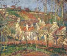 Красные крыши, 1877 - Писсарро, Камиль
