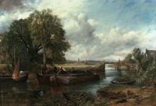 Пейзаж с рекой Стур близ Дедема - Констебль, Джон