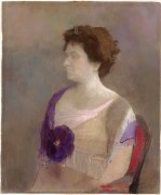Женщина с цветком в корсаже - Редон, Одилон