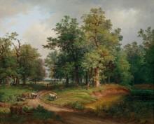 Лесной пейзаж с повозкой - Файд, Йозеф
