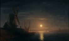 Лунная ночь над Днепром - Айвазовский, Иван Константинович