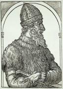 """Иван ІІІ Васильевич. Гравюра из книги """"Космография"""". 1575 - Теве, Андре"""