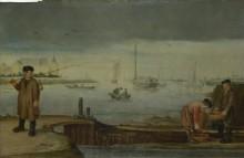 Рыбаки у Mюденского замка - Арентс, Арент