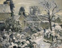 Снежный пейзаж с коровами, 1874 - Писсарро, Камиль