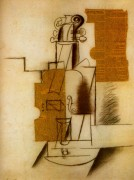 Скрипка, 1914 - Пикассо, Пабло