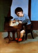 Рисующий Поль, 1923 - Пикассо, Пабло