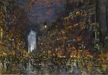 Вид Парижа ночью, 1930 - Коровин, Константин Алексеевич