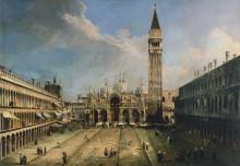 Площадь Сан-Марко в Венеции - Каналетто (Джованни Антонио Каналь)