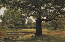 Дубы в Старом Петергофе, 1891 - Шишкин, Иван Иванович