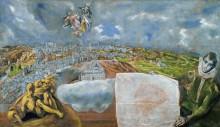 Вид и план Толедо - Греко, Эль