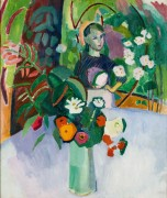 Жанна с цветами - Дюфи, Рауль