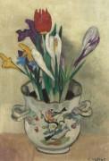 Ваза с крокусами и тюльпанами - Вальта, Луи