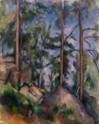 Сосны и скалы в лесу - Сезанн, Поль