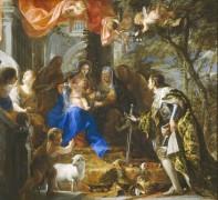 Почитание Святого Семейства, 1668 - Коэльо, Клаудио