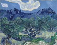Оливковые деревья на фоне Альп (Olive Trees with the Alpilles in the Background), 1889 02 - Гог, Винсент ван