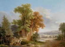 Пейзаж с прачками - Тёпфер, Вольфганг Адам