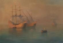 Прибытие флотилии Колумба - Айвазовский, Иван Константинович