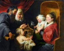 Мадонна с Младенцем со Иоанном Крестителем и его родителями - Йорданс, Якоб