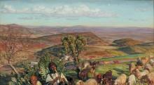 Вид на Изреельскую долину у Назарета - Хант, Уильям Холман