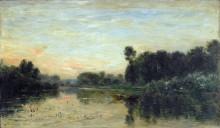 Берега реки на закате дня - Добиньи, Шарль-Франсуа
