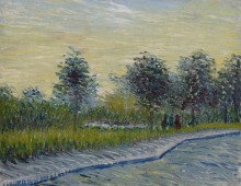 Сквер Сен-Пьер на закате (Way in the Voyer d'Angerson Park in Asnieres), 1887 - Гог, Винсент ван