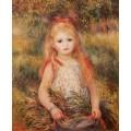 Девочка с цветами - Ренуар, Пьер Огюст