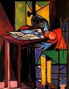 Читающая женщина, 1935 - Пикассо, Пабло
