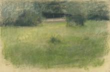 Лужайка и подлесок,  1890-93 - Дега, Эдгар