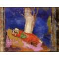 Женщина, спящая под деревом - Редон, Одилон
