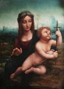 Мадонна с веретеном (работа мастерской Леонардо) - Винчи, Леонардо да