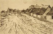 Дома на солнце в Ле-Сент-Мари-де-ла-Мер (Houses in the Sun in Les Saintes-Maries-de-la-Mer), 1888 - Гог, Винсент ван
