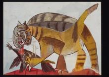 Кот, поедающий птицу - Пикассо, Пабло