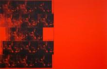 Четырнадцать кадров автокатастрофы на оранжевом фоне - Уорхол, Энди