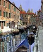 Гондолы на канале - Борелли, Гвидо (20 век)