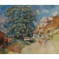 Большое дерево у дороги, 1886 - Ренуар, Пьер Огюст