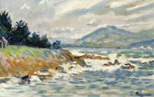 Сен-Тропе, порыв восточного ветра, 1895 - Синьяк, Поль